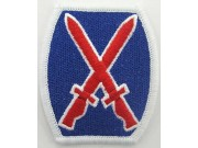 10TH AIRBORNE ARMY INFANTRY DIVISION PATCH - RED & BLUE