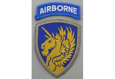 13TH AIRBORNE DIVISION PATCH WITH AIRBORNE TAB