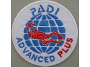 "PADI SCUBA - ADVANCED PLUS PATCH 4"""