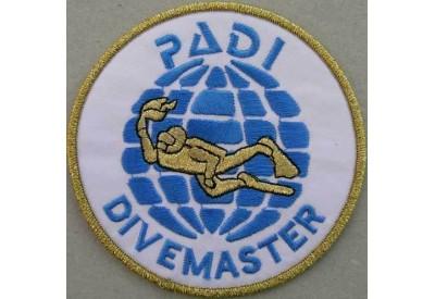 "PADI SCUBA - DIVEMASTER ROUND PATCH 3"""