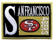 NFL SAN FRANCISCO FOOTBALL IRON ON EMBROIDERED PATCH #07