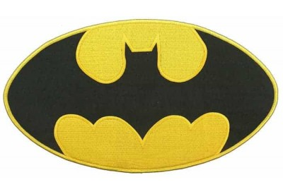 GIANT BATMAN CREST EMBROIDERED PATCH (P3)