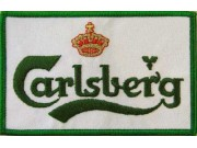 CARLSBERG BEER IRON ON EMBROIDERED PATCH #02