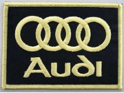 AUDI AUTOMOBILE IRON ON EMBROIDERED PATCH #02