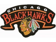 GIANT NHL CHICAGO BLACKHAWKS EMBROIDERED PATCH K01