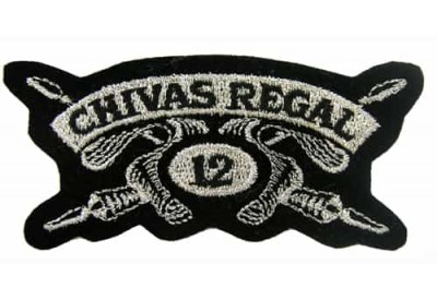 CHIVAS REGAL WHISKEY IRON ON EMBROIDERED PATCH #03