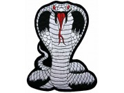 GIANT COBRA BIKER EMBROIDERED PATCH (L1)