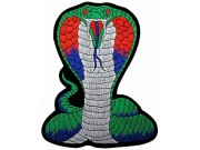 GIANT COBRA BIKER EMBROIDERED PATCH (L4)