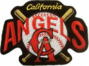 MLB CALIFORNIA ANGELS BASEBALL EMBROIDERED PATCH #01