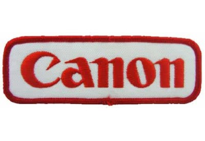 CANON IRON ON EMBROIDERED PATCH