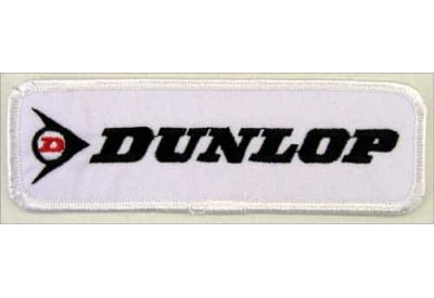 DUNLOP TIRE TYRE EMBROIDERED PATCH #07