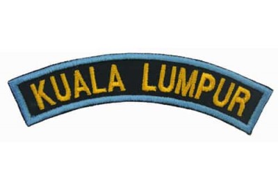 BSM DISTRICT STRIPS - KUALA LUMPUR EMBROIDERD PATCH