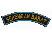 BSM DISTRICT STRIPS - SEREMBAN BARAT EMBROIDERD PATCH