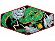 GIANT DELUXE DRAGON EMBROIDERED PATCH (L03)