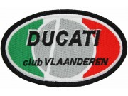 DUCATI BIKER IRON ON EMBROIDERD PATCH #06