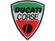 DUCATI BIKER IRON ON EMBROIDERD PATCH #07