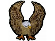 GIANT UP WING EAGLE BIKER EMBROIDERED PATCH (L)