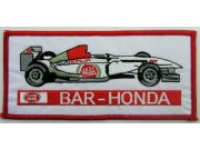 BAR HONDA F1 RACING EMBROIDERED PATCH #03
