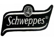 SCHWEPPES SODA IRON ON EMBROIDERED PATCH #01