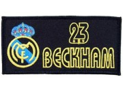 REAL MADRID 23 DAVID BACKHAM EMBROIDERED PATCH #06