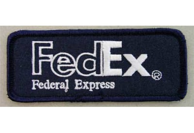 FedEx LOGO IRON ON EMBROIDERED PATCH #02