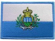 SAN MARINO FLAG PATCH (C)