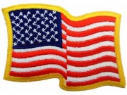 USA WAVING EMBROIDERED FLAG PATCH