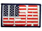 USA FLAG IRON ON EMBROIDERED PATCH