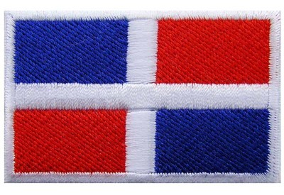 """Dominican Flag """"Without Text"""" Embroidered Patch"""