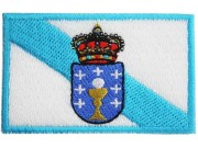 "Spain State Galicia Flags ""Without Text"" Patch"