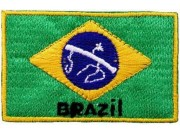 """Brazil Flags """"With Text"""""""