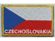 """Czech Republic (Czechoslovakia) Flags """"With Text"""""""