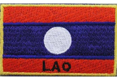 "Laos Flags ""With Text"""