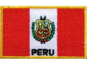 """Peru Flags """"With Text"""""""