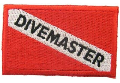 SCUBA DIVE -  DIVEMASTER EMBLRM EMBROIDERED PATCH