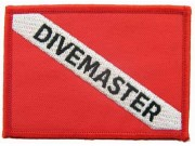 SCUBA DIVE -  DIVEMASTER EMBLEM EMBROIDERED PATCH