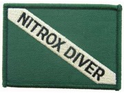 SCUBA DIVE -  NITROX DRIVER EMBLEM EMBROIDERED PATCH