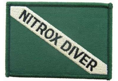SCUBA DIVE -  NITROX DRIVER EMBLEM EMBROIDERED PATCH