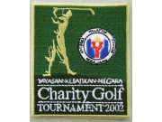 CHARITY GOLF TOURNAMENT 2002 EMBROIDERED PATCH