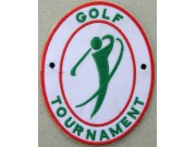 GOLF TOURNAMENT EMBROIDERED PATCH