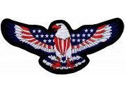 GIANT US FLAG EAGLE EMBROIDERED PATCH (P)