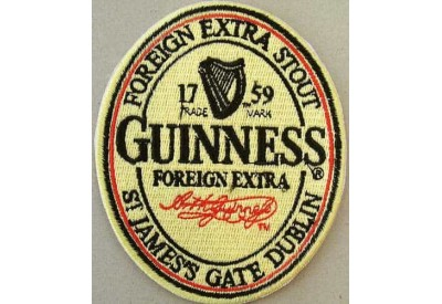 GUINNESS BEER IRON ON EMBROIDERED PATCH #01