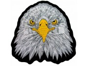 GIANT EAGLE HEAD BIKER EMBROIDERED PATCH (L)