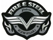GIANT FIRE & STEEL KAWASAKI BIKE EMBROIDERED PATCH (P1)