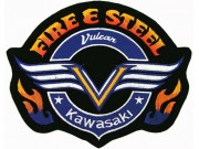GIANT FIRE & STEEL KAWASAKI BIKE EMBROIDERED PATCH (P2)