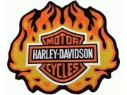 GIANT HARLEY DAVIDSON BIKER FIRE FLAME PATCH (L08)