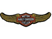 GIANT HARLEY DAVIDSON BIKER WINGS PATCH (L12)