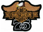GIANT HARLEY DAVIDSON 75th ANNV EAGLE PATCH (L16a)