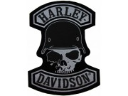 GIANT HARLEY DAVIDSON BIKER SKULL PATCH (XL19)