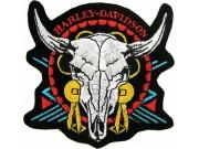 HARLEY DAVIDSON BIKER EMBROIDERED PATCH #02b